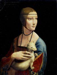 白貂を抱く婦人
